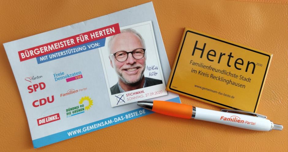 Die Familien-Partei Herten unterstützt Matthias Müller